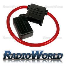 Splash Proof 100A 12V 24V Inline Maxi Blade Fuse Holder 8AWG Car Van Wiring