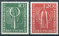 Bund Nr. 217 - 218 sauber postfrisch BRD WESTROPA 1955 Düsseldorf MNH