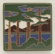 4x4 Arts & Crafts Lake Tahoe Pines Tile by Arts & Craftsman Tileworks