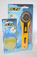 Rollschneider, Rollmesser Cutter 45mm von OLFA, RTY-2/G + Ersatzklinge
