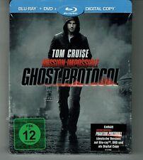 Blu-ray - MISSION IMPOSSIBLE 4 - Phantom Protocol - STEELBOOK - NEU & OVP Ghost