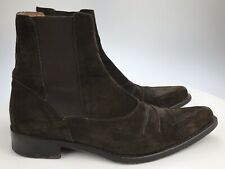 Men's 10 M - Mezlan Suede Brown Chelsea Boots Pointed Toe Ankle Pull On Stretch