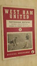 1963/64 Football League - WEST HAM v TOTTENHAM HOTSPUR - 8th February