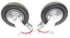 "6"" (150mm) Rubber Swivel Castor Wheels Trolley Furniture Casters (2 Pack) RM015"