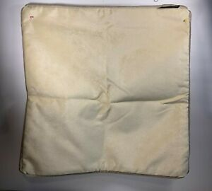 """Throw Pillow Cover Cream Colored 15"""" Square McAlister Textiles NWOT"""