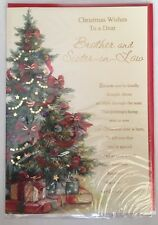 Christmas Wishes To a Dear Brother & Sister-in-law - Christmas X card - Xmas