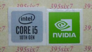 intel 10th Gen CPU Processor i3 i5 i7 Sticker + Nvidia RTX GTX STUDIO Sticker