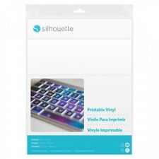 Silhouette Printable Vinyl Package of Eight 8-1/2 x 11 Inch Sheets