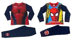 Official Marvel Spider-Man Pyjamas Pajamas Pjs Boys Girls Kids Ages 2 3 4 5 6 8