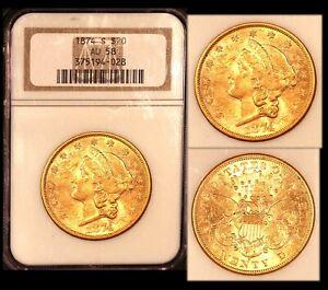 1874-S $20 NGC AU 58 Liberty Double Eagle