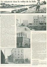 LE CATEAU SAULZOIR ST-BENIN SOLESMES HAUSSY CREVECOEUR NEUVILLY MINOTERIE 1921