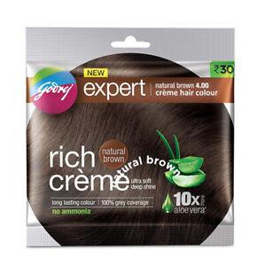 4 X Godrej Expert Rich Creme Natural Brown 4.0 Hair Color ( 20 gm + 20 ml )