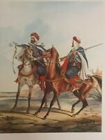 VINTAGE LITHOGRAPHS 19TH CENTURY CALVARY SOLDIERS WORLDWIDE FIVE PRINTS SET