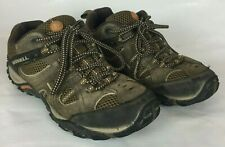 Merrell Size 7.5 Men's Shoes Lace Up Hiking Canteen Marmalade Brown Leather