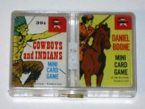 Vintage 1967 DANIEL BOONE & COWBOYS and INDIANS Card Games! Ed-U-Cards! Complete