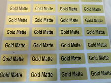 300 Gold Matte Customized Waterproof Name Stickers Labels 0.9 x 2.2 cm Tags