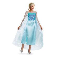DISNEY'S FROZEN ELSA SNOW QUEEN ADULT HALLOWEEN COSTUME WOMEN'S SIZE LARGE 12-14