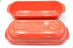 Emile Henry Brotbackform rot matt, mohnblumenrot, limitiert