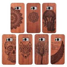 For Samsung Galaxy S9 / S8 Plus Natural Wood Bamboo PC Protect Phone Case Cover