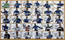 30 Ak FC Schalke 04 Cartes Autographes 2017-18 Original Signé