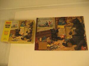 """VINTAGE TUCO PICTURE PUZZLE """"SURPRISE GUESTS""""  250 +  PCS  NO. 4655"""