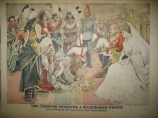 ETATS-UNIS INDIENS PEAUX ROUGES A BUCKINGHAM EDOUARD VII LE PETIT JOURNAL 1906