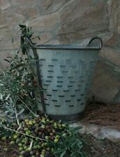 Gardening vegetable fruit picking steel harvest olive bucket