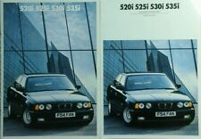 BMW 5 Series  Brochure, Colours/Upholstery Guide, Pricelist/spec guide- Feb 1988