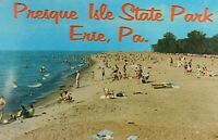 Vintage Presque Isle State Park Erie Pennsylvanian Beach Swim Lake Postcard