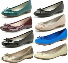 Clarks Ballerinas Synthetic Leather Shoes for Women