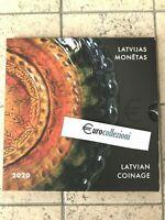LETTONIE 2020 COFFRET BU 1 CENT À 2 EURO + 2 EURO CC * COFFRET OFFICIEL LATVIA