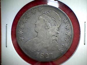 1827 Capped Bust Half Dollar 50c .900 Silver Philadelphia #2