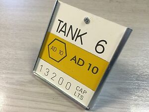 Budget Tank Label Made To Order To Suit Your Tank