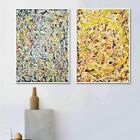 """2PCS Combo Painting by Jackson Pollock White Framed Canvas Giclee Print 20""""x24"""""""