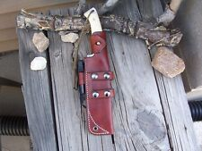 LF Custom Leather Bushcraft Scout Sheath Any Make of Knife