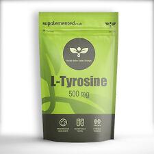 L-TYROSINE 500mg x 90 CAPSULES Pre Workout, Dopamine, Antidepressant, Alertness
