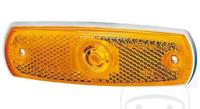 Hella Luz de Marcador Lateral Ámbar Reflex Reflector 24V Plano Exterior Fijación