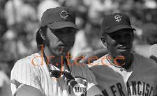 1972 Joe Pepitone & Willie Mays - 35mm Baseball Negative