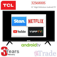 """2019 TCL 32"""" Inch HD ANDROID Smart LED TV Netflix HDR Quad Core Model 32S6800S"""