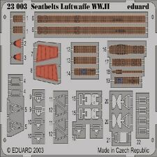 EDUARD MODELS 1/24 Aircraft- Seatbelts Luftwaffe WWII (Painted) EDU23003