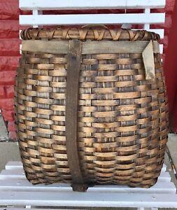 Vintage Antique Adirondack Gathering Hunters Backpack Basket Penobscot? Beauty