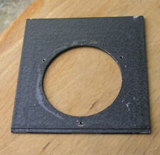 early Linhof  Lens board panel 64mm hole 105.8 x 107.7 compur 3