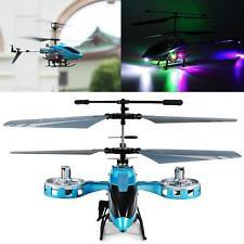 Avatar M-302 Ir 2.4G 4Ch Rc Remote Control Helicopter Led Light Gyro Rtf Blue