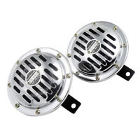 2Pcs Waterproof 12V Loud Basin double Insert Car Electric Air Horn Siren
