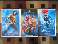 "Aquaman ( 11"" X 17"" ) Movie Collector's Poster Prints -( Set of 3 )"