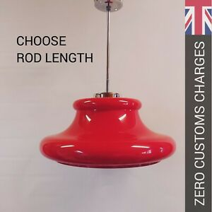 red MEBLO-STYLE retro pop art space age pendant ceiling lamp light CSSR