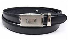 "Men's Black Leather Ratchet Belt , Waist 28"" - 48"" by  Milano® Belts for Men"