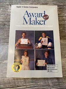 Vintage Apple II Series Award Maker Plus Baudville Complete