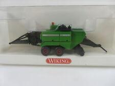 Wiking 3960228 HO 1:87 Quaderballenpresse Fendt grün, neu und mit OVP