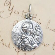 St John the Baptist Medal - Sterling Silver Antique Replica